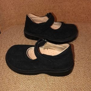 Beautiful Little Black Suede Mary Janes